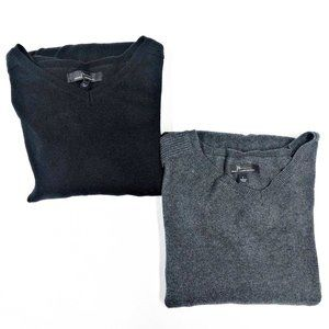 (2) Marc Anthony Men's Large V-Neck Sweaters